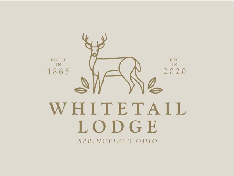Whitetail Lodge final logo line work minimal branding minimalist branding logo design graphic design wedding venue cabin branding nature logo deer logo deer logo