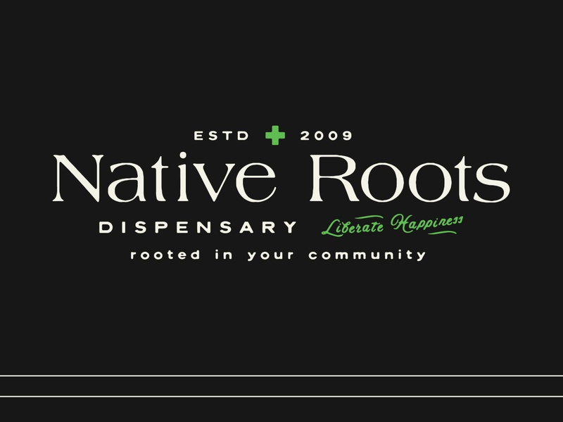 Native Roots —Unused Concept weed logo cannabis design cannabis branding branding logotype vector hand lettering logo lettering typography cannabis logo marijuana tree happiness native roots roots native dispensary weed cannabis