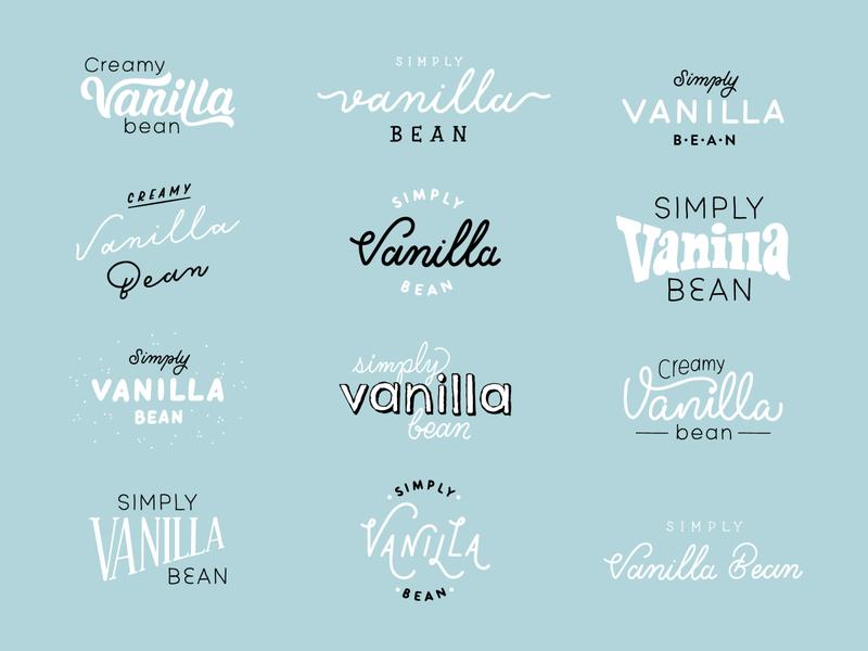So Delicious Vanilla Ice Cream Lettering simple creamy flavors flavor lettering dessert frozen dessert delicious so delicious dairy free ice cream icecream vanilla bean vanilla sketch logotype branding hand lettering logo lettering typography