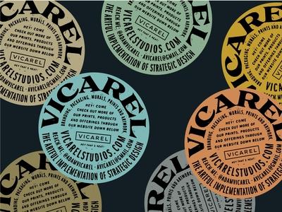 Vicarel Studios — Graphic Design and Lettering Studio Sticker layers tan colors vintage colors vintage sticker sans serif serif logotype branding hand lettering logo lettering typography
