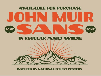 John Muir sans typeface specimen vector mountain logo mountain national forest custom type typedesign typeface mountains john muir font design font logotype hand lettering illustration logo lettering typography