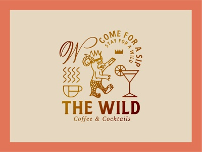 The Wild Crest and Logo Lockup lockup typography restaurant bar cocktails coffee shop coffee crest design crest denver wild the wild vector branding hand lettering lettering illustration logodesign logotype logo