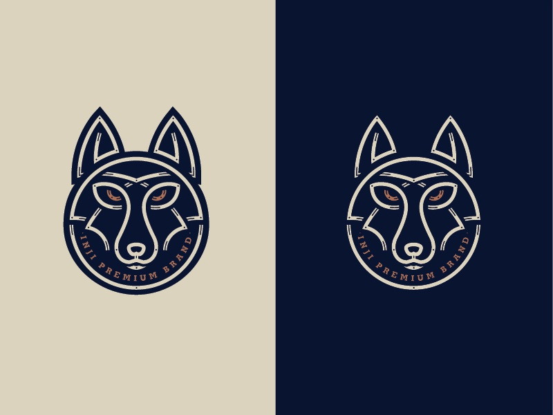 Inji Illustration final minimal illustration vector minimal line illustration line art branding streetwear surf animal illustration dingo fox wolf