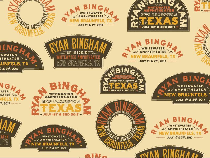 Ryan Bingham vintage typography vintage badge vintage type badge typography music logo logo music crest country ryan bingham