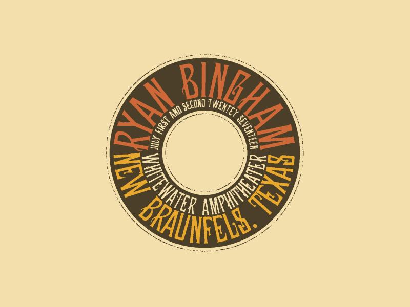 Ryan Bingham Detail vintage typography vintage badge vintage type badge typography music logo logo music crest country ryan bingham