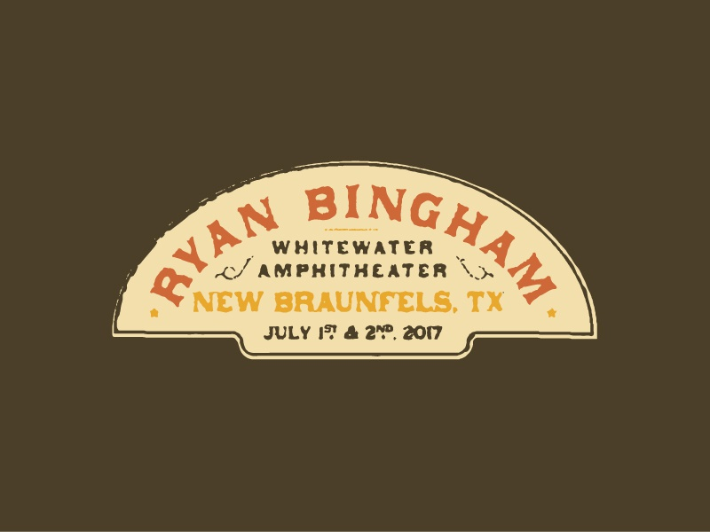 Ryan Bingham Detail 2 vintage typography vintage badge vintage type badge typography music logo logo music crest country ryan bingham