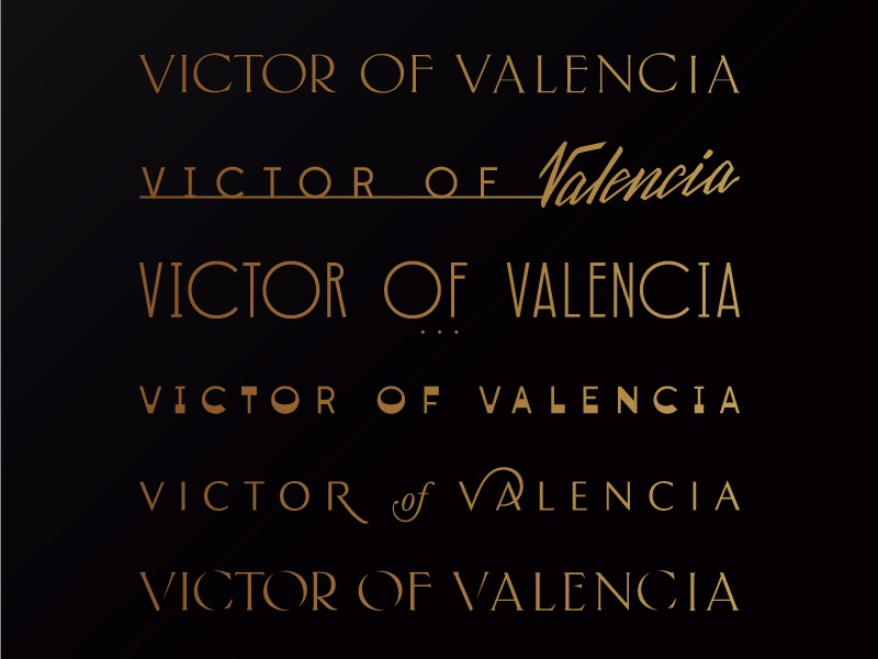 Victor Of Valencia Logotype gradient classy premium high end lettering typography photography logotype branding