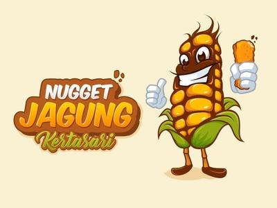 Corn Nugget cartoon mascot character mascot illustration design vector logo dribbble