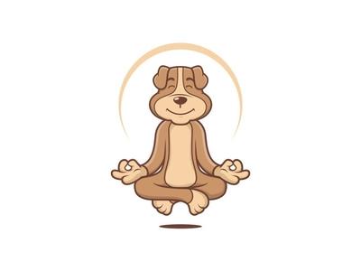 Dog Guru logo dog mascot design cartoon vector