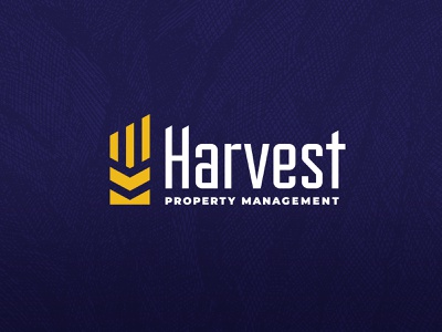 Harvest Property Management typography vector type brand identity design texture clean branding logo