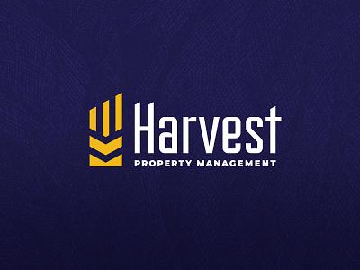 Harvest Property Management typography vector type brand identity design texture clean branding logo