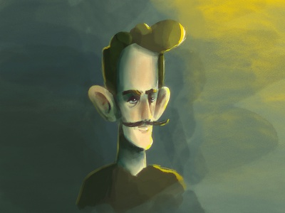 Experiment in Style - Procreate Portrait hipster illustration mustash procreate brushes procreate app portrait painting procreate