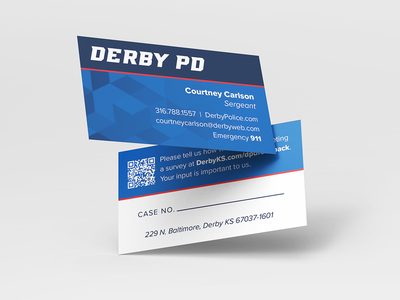 Police Department Business Cards business cards identity design clean branding logo police