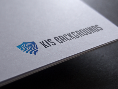 KIS Backgrouds blue identity shield fingerprint branding logo