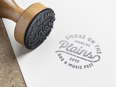 BBQ & Music Festival Mark line simple vector typography clean design identity black mark badge bbq type flat brand texture branding logo