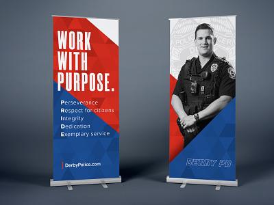 Police Branding recruiting tradeshow typography type brand identity design clean logo branding banner police