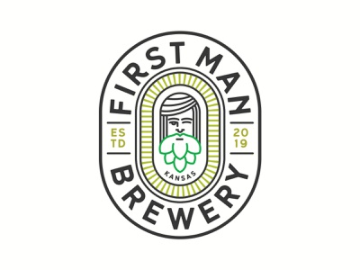 Local Brewery Logo badge brewery logo beer adam and eve hops brewery type brand illustration design branding clean logo