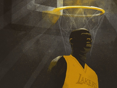 Kobe nba kobe heavenly lakers procreate texture illustration digital basketball design illustration kobe bryant