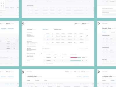 Wireframes · Sales Process