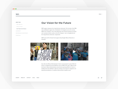 Story Page minimal clean story template gotham typography web non-profit site