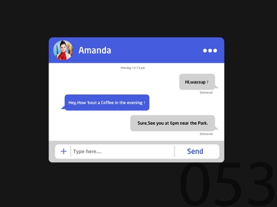 Day53-Clean Chat UI adobe ux chat ui dailyui 053 ui