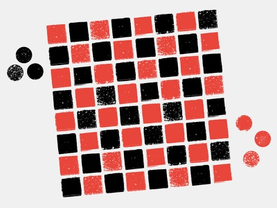 Checkers illustration grid checkerboard checker distressed vector texture pattern tile black red