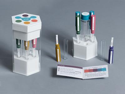 VIZ: Water Testing Reimagined logo design brand branding testing science 3d printing packaging product
