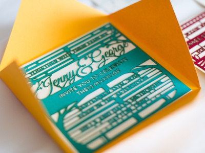 Wedding Invite print invite design laser cut invite envelope laser invitation wedding