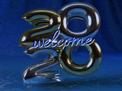 Welcome 2020 january dimension welcome number 3d text 3d new year 2020