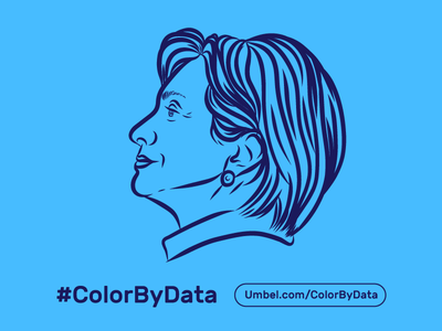 Hillary #ColorByData president madame president 2016 election american politics clinton illustration imwithher infographic debates america hillary politics