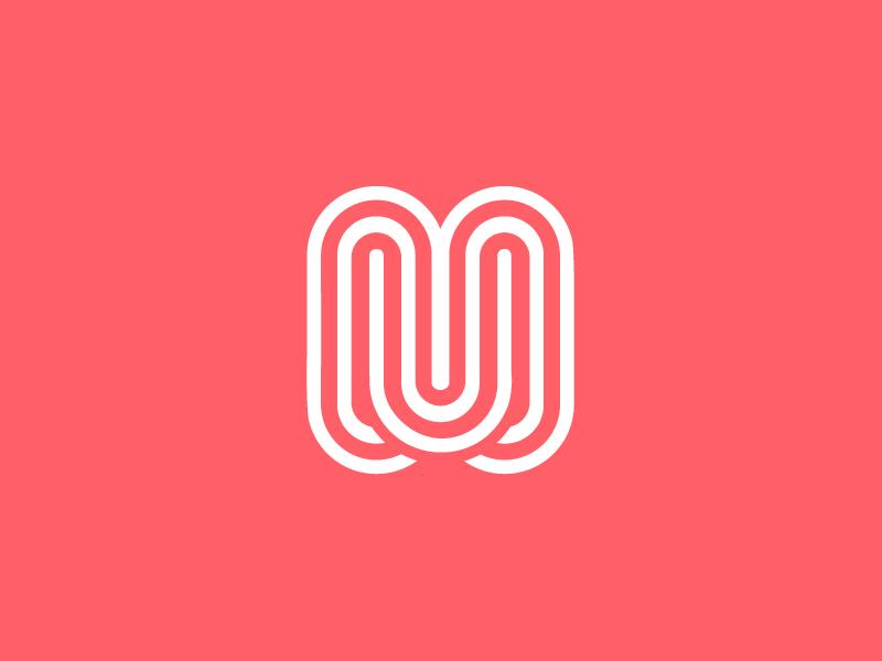 M m branding continuous overlap identity branding  identity