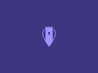 Commercial Real Estate Logo simple branding redesign logo commercial real estate keyhole pin castle