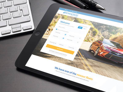 Car Rental Service friendly modern clean preview web design web car rent a car car rental