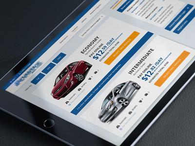 Vehicle Selection uiux web design designzillas rental car redesign website car rental