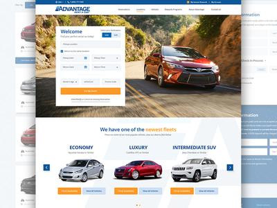 Advantage Redesign web uiux designzillas car rental website web design advantage