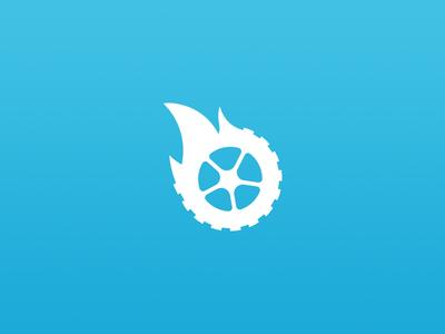 Burnout Logo burning tire wheel logo branding logo and identity counterstrike