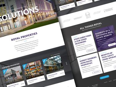 Royal Properties Redesign clean minimal designzillas uiux website web web design