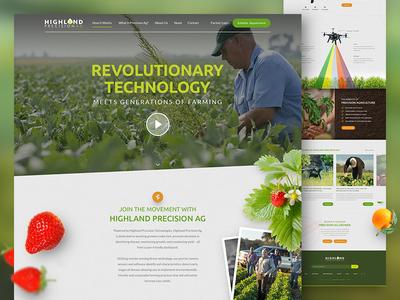 Farming & Technology Website website design web designzillas technology and farming technology fruit strawberries farming uiux web design