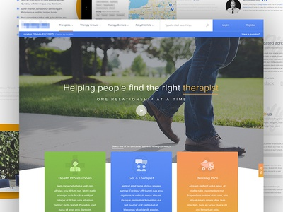 Healthcare - About Us website design bright friendly modern mental health health healthcare web design website about us
