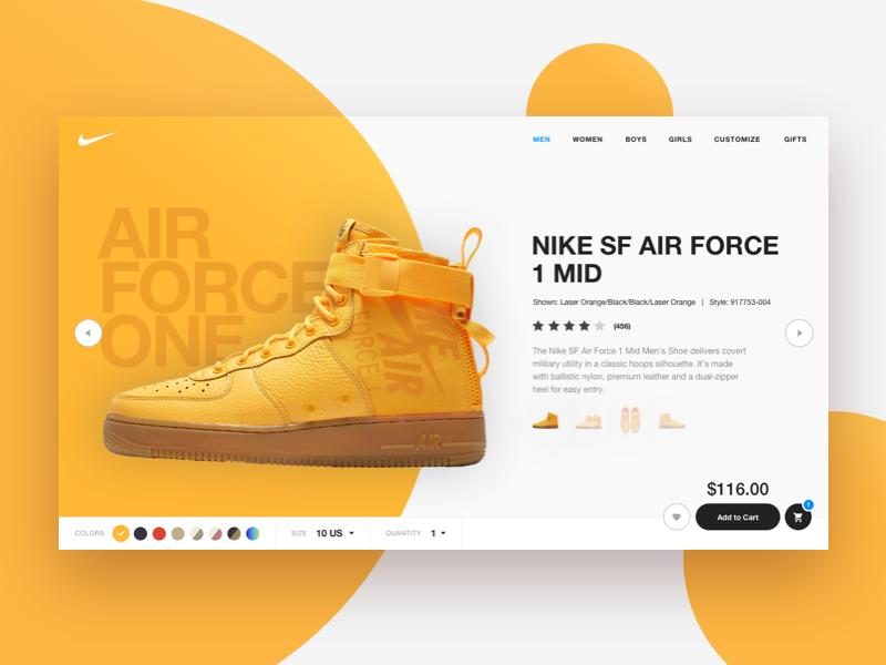 2 web design uiux nike ecommerce exploration