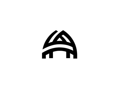 Arch Logo branding logo and identity modern simple real estate arch monogram a architecture archway