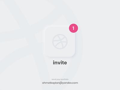 1 Dribbble Invitation ✌🏼 uidesign design tasarım uiux ui turkish turkey invite giveaway dribbble invite