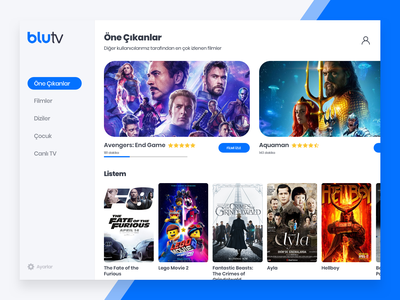 BluTV - Redesign Concept ui redesign applicaiton movie movie app netflix blutv
