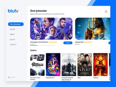 BluTV - Redesign Concept