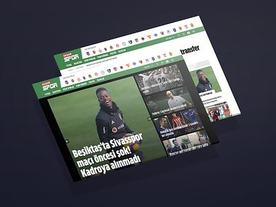 Aksam Spor Website ui design haber sport newspaper news
