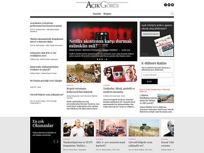 Açık Görüş UI Design magazine newspaper news design dribbble ui design ui