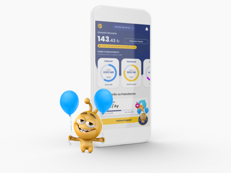 Turkcell Mobile Network Operator Concept mobile application mobile app design mobile app mobile ui turkcell
