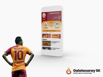 Galatasaray SK Mobile App Concept galatasaray dribbble ui ui design app applicaiton