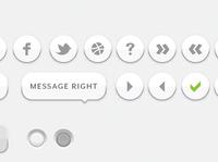simple white UI elements
