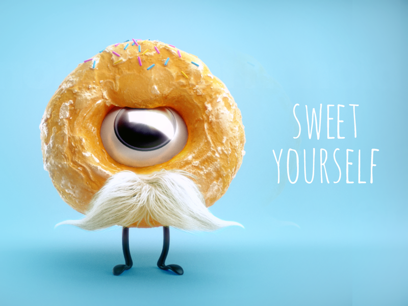 Sweet yourself donut xgen maya arnold